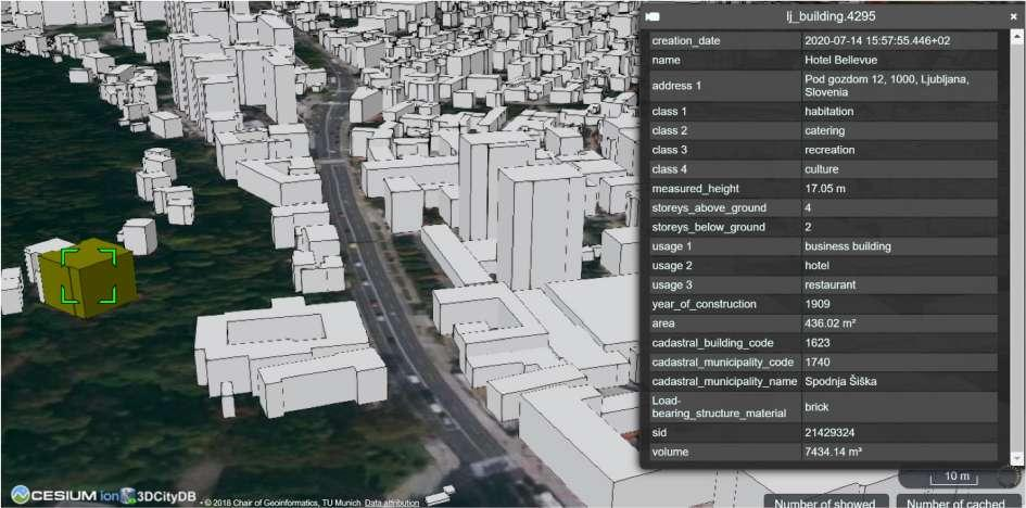 organized as attributes. Figure 38 exemplify a view in Google Earth of the constructed model exported as a.