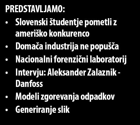 forenzični laboratorij Intervju: